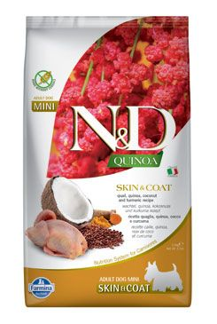 N&D Quinoa DOG Skin & Coat Quail & Coconut Mini 2,5kg