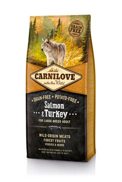 Carnilove Dog Salmon & Turkey for LB Adult 12kg