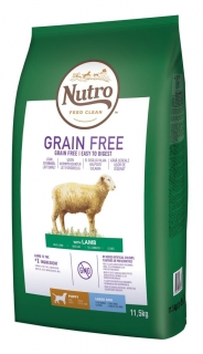 NUTRO grain free PUPPY medium/large lamb 11,5kg