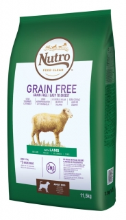 NUTRO grain free ADULT medium lamb 11,5kg