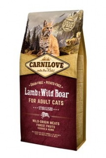 Carnilove Cat Lamb & Wild Boar Adult Sterilised 6kg