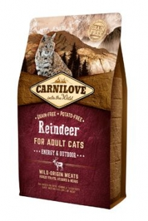 Carnilove Cat Reindeer for Adult Energy & Outdoor 2kg