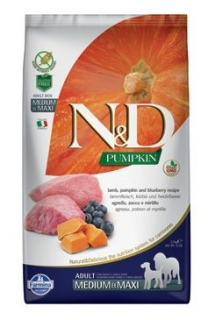 N&D Pumpkin DOG Adult M/L Lamb & Blueberry 12kg