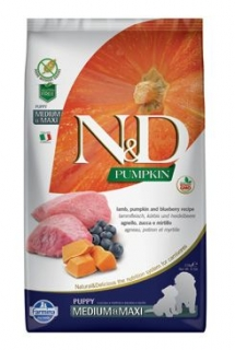 N&D Pumpkin DOG Puppy M/L Lamb & Blueberry 12kg