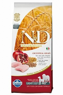 N&D LG DOG Light M/L Chicken&Pomegranate 12kg