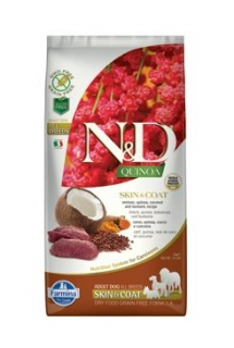 N&D Quinoa DOG Skin & Coat Venison & Coconut 7kg