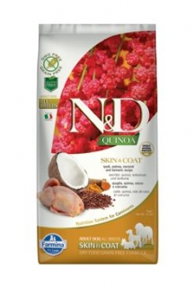 N&D Quinoa DOG Skin & Coat Quail & Coconut 7kg
