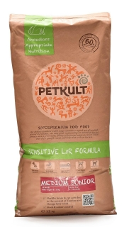 PETKULT dog MEDIUM JUNIOR lamb/rice
