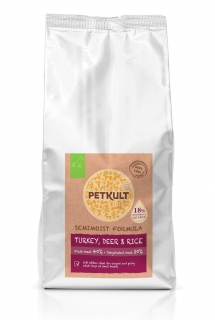 PETKULT dog SEMIMOIST / MINI ADULT turkey 5kg
