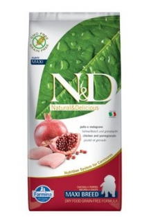 N&D LG DOG Puppy Maxi Chicken & Pomegranate - 12 kg